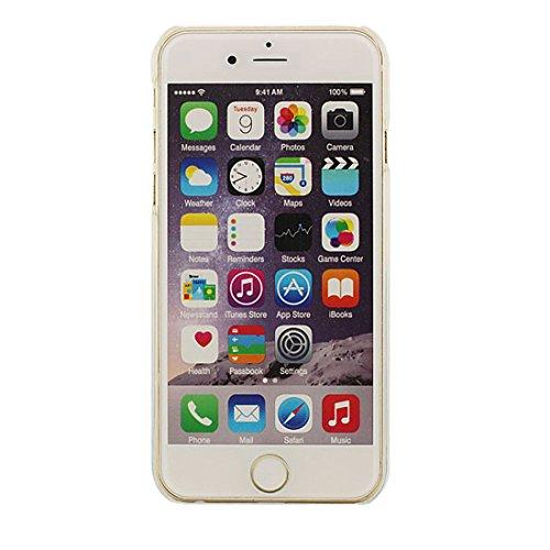 iPhone 7 Plus Coque, 3D Canards Écoulement Liquide Eau Dur Clair Transparent Plastique Joli Case Housse Protection pour Apple iPhone 7 Plus 5.5 inch Color-3