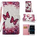 Lomogo [Huawei P9 Lite] Hülle Leder, Schutzhülle Brieftasche mit Kartenfach Klappbar Magnetverschluss Stoßfest Kratzfest Handyhülle Case für Huawei P9Lite - YIBO32359#1