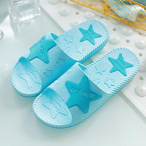 DogHaccd pantofole,Stella di mare giovane signora estate uomini antiscivolo home indoor bagno doccia estate plastica spessa cool pantofole Blu cielo2