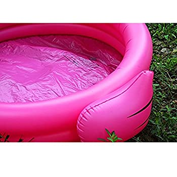 Ynredee Giant Swan Flamingo Inflatable Pool,children's Swimming Pool Inflating Baby Play Center (Flamingo) 7