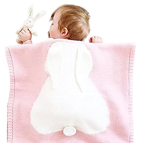 Covermason Baby Boy Girl Rabbit Knitting Blanket For Bedding Quilt Play Animal Throw Crib Wrap Blanket
