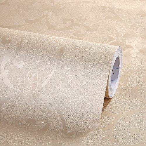 Zhzhco Verdickte Grün Selbstklebende Pvc-Wallpaper Wallpaper Wallpaper Schlafzimmer Wohnzimmer Tv Hintergrund 60Cm*10M