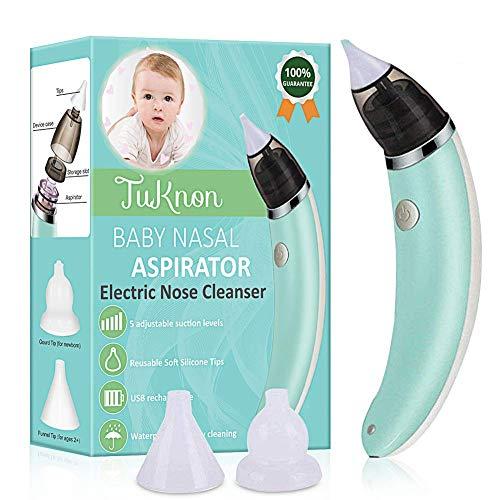 Bebe Aspirateur Nasal Électrique Nettoyeur de Nez Alimenté Chargement Aspirateur Nasal Enfant USB...