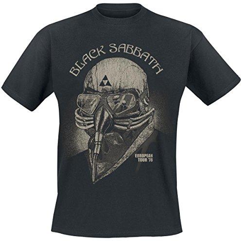 Black Sabbath European Tour 78 Camiseta Negro 4XL