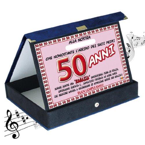 Biglietto Auguri Giornale Compleanno 50 Anni Amica