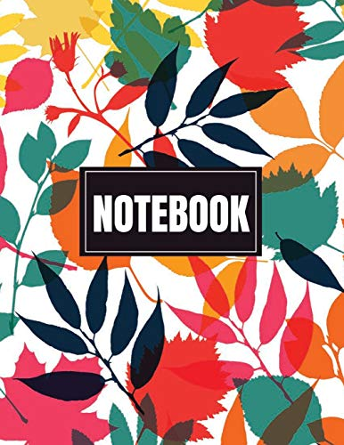 Notebook: colur leaf cover (8.5 x 11)  inches 110 pages, Blank Unlined Paper for Sketching, Drawing , Whiting , Journaling & Doodling (colur leaf  notebook,)