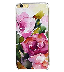 Rose Painting Water Colour 2D Hard Polycarbonate Designer Back Case Cover for Apple iPhone 6