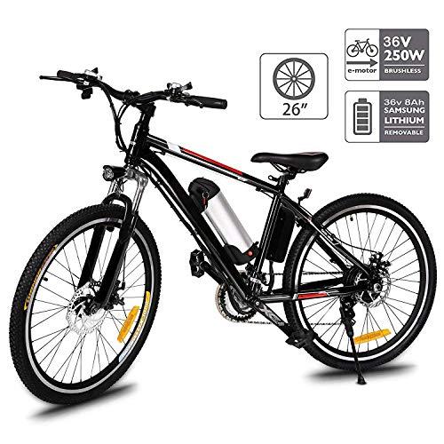 Hiriyt Faltbares E-Bike,36V 250W Elektrofahrräder,8A Lithium Batterie Mountainbike,26 Zoll Große Kapazität Pedelec mit Lithium-Akku und Ladegerät (Non-Faltbar_Schwarz)