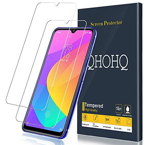 [2 Unidades] QHOHQ Protector de Pantalla para Xiaomi Mi 9 Lite, Redmi Note 8, Redmi Note 7, Redmi 7,[9H Dureza] HD Transparente Resistente Arañazos [No Burbujas] Vidrio Templado