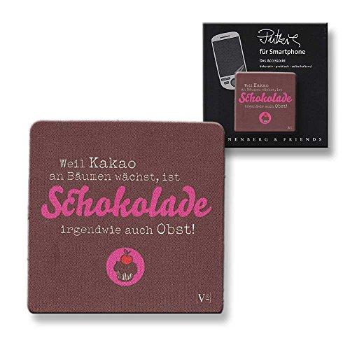 Displayputztuch Putzi Smartphone Schokolade ist Obst ()