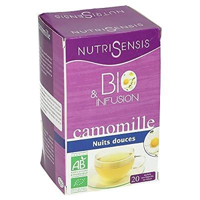 NutriSensis Camomille Nuits Douces Infusions 20 Sachets 20 g - Lot de 3 - BIO