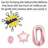KUNGYO Zum 40. Geburtstag Party Dekorationen Kit Rose Gold Happy Birthday Banner-Riesen Zahl 40 Helium Folienballons, Bänder, Papier Pom Blumen, Latex Ballon, Alles Gute Zum Geburtstag für Frauen - 8