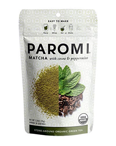 Paromi Té verde suelo piedra orgánica se sirve caliente