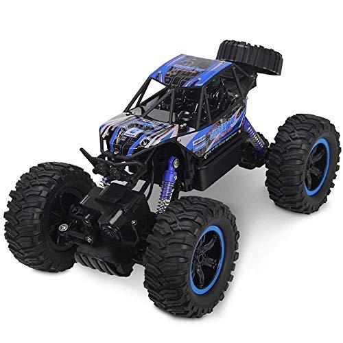 YOOCR RC Cars 1:14 Scale 4WD Monster Crawler Chariot 2,4 GHz 4x4 Crawler Wiederaufladbare Geländewagen Geländewagen Hochgeschwindigkeits-Rennwagen for Kinder Erwachsene Hobby Spielzeug, Blau