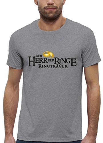 JGA Premium Herren T-Shirt aus Bio Baumwolle JGA 53 - RINGTRÄGER Kombi Stanley Stella Heather Grey