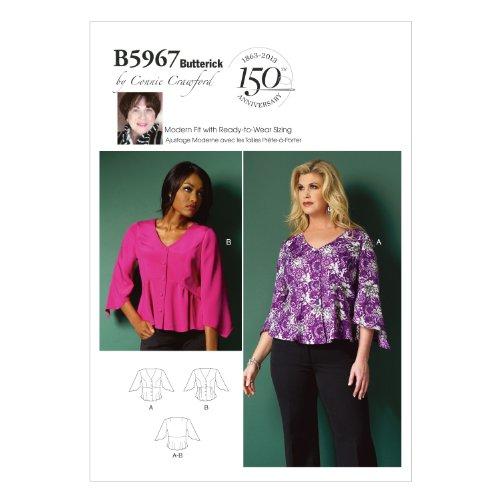butterick-patterns-b5967-patrones-de-costura-de-blusas-para-mujer-tallas-grandes-color-blanco