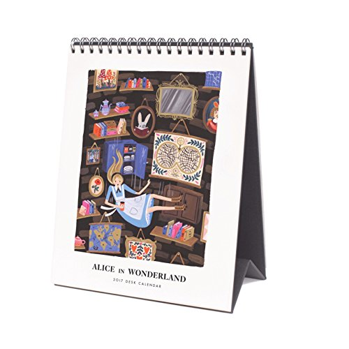 Rifle Paper Co. 2017 Alice In Wonderland Desk Calendar