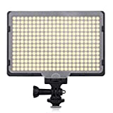 Excelvan PT-308S Lampe Vidéo LED Ultra-Mince 308PCS LEDS 5600K 2400LM Éclairage Photo Portable Dimmablepour Canon Nikon Pentax JVC DSLR Caméscope DV