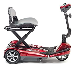 drivedevilbiss Automatic Folding Lightweight Mobility Scooter - Red