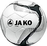 Jako Herren Fußball Ball Futsal, Weiß/Grau/Schwarz, 4, 2347