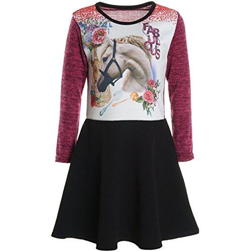 Lange Kostüm Arme - BEZLIT Mädchen Kinder Spitze Winter Kleid Peticoat Fest Kleider Lang Arm Kostüm 20921 Pink Größe 128