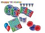 Verbetena Table d'anniversaire coordonnée Super Pigiamini - PJ Masks kit 46f