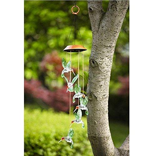 Generic Solar Windspiele Farbe Wechselnden LED Schmetterling Licht Lampe Hause Garten Dekoration – Grün - 2