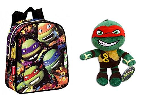 TMNT-Pack-Mochila-infantil-Tortugas-Ninja-52106-TURTLES-TOGETHER-28-cm-Peluche-Raphael-30cm-Super-Soft