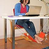 Middletone Fußhängematte Fußstütze - Setzen Sie Ihren Fuß auf der Hängematte unter dem Schreibtisch Verstellbar bequem für Ihr Fuß büro (Orange)