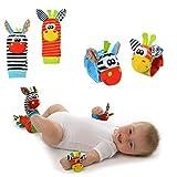 AIUIN Baby Wrist and Socks - 4PCS Baby Wrist Socks Rattles Toy (2 Piezas de muñeca + 2 Piezas de Calcetines)