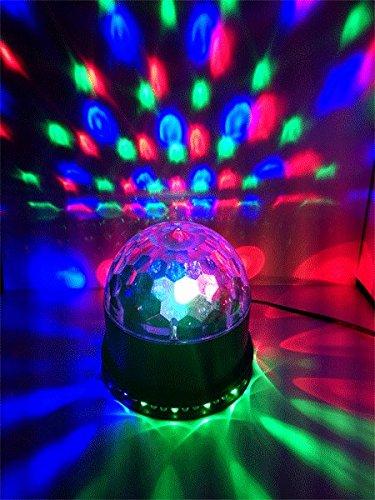 Ibiza LED UFO Lichteffekt LED-Untertasse Decken-Beleuchtung (48 leuchtstarke RGB LEDs, Automatik, Ne - 6