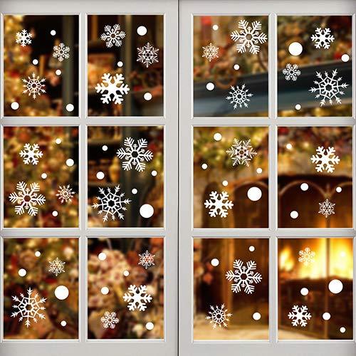 Earlybird-fly 144 Piezas Pegatina Copo Nieve Navidad