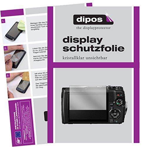 dipos I 6X Schutzfolie klar passend für Olympus Tough TG-5 Folie Displayschutzfolie (Kamera Olympus Tough 3000)