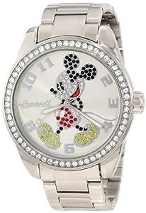 Reloj Disney de cuarzo unisex con correa de acero inoxidable, color plateado de Disney by Ingersoll
