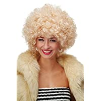 WIG ME UP - Party/Fancy Dress/Halloween WIG gigantic super volume BRIGHT BLOND disco AFRO funky huge HAIR! PW0011-P02