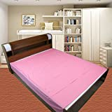 #5: Baby waterproof plastic sheet- Double Bed/Baby-Adult Waterproof Mattress protector by GoodLuck (Size - 7.5 x 6.5 feet -Pink)