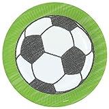 Party-Teller Fußball/Papp-Teller Fussball/Einweg-Teller/Einweg-Geschirr/Geburtstags-Deko/Kinder-Geburtstag/Geburtstags-Party/Party-Deko/Tisch-Dekoration/Mottoparty Fußball (24 Teller)