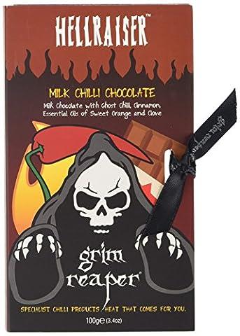 Grim Reaper Hell Raiser Ghost Chilli Milk Chocolate Bar 100 g