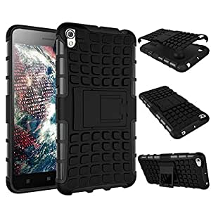 Elate Shock proof Back cover with Stand for Lenovo A6000