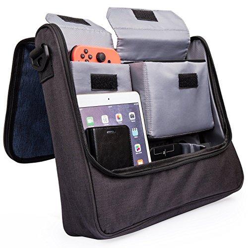Nintendo Switch Messenger Bag, iDudu Sac à bandoulière/ Case pour Nintendo Switch et ses accessoires