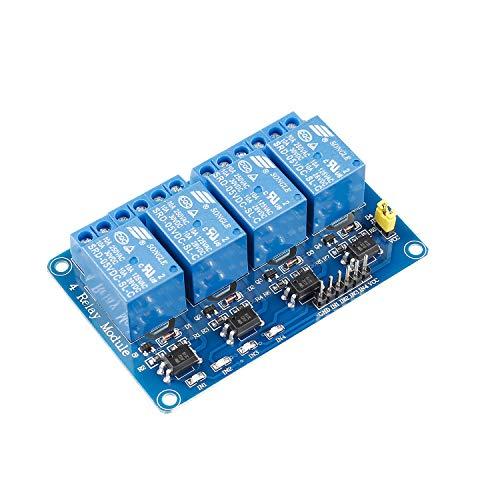 SUNFOUNDER 4 Channel 5V Relay Shield Module for Arduino UNO R3 MEGA 2560 1280 DSP ARM PIC AVR STM32 Raspberry Pi (MEHRWEG) -
