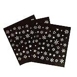 Kanggest. 3 hojas de Preciosas Pegatinas de Uñas para Navidad de Patrón de Copo de Nieve Apliques...