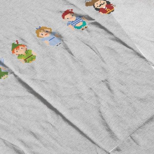 Peter Pan All Pixel Characters Women's Vest Heather Grey