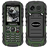 Rugged Cell Phone,Huadoo H1 IP68 Outdoor Waterproof Unlocked Rugged Mobile Phone ,Quadband Camera Flashlight Bluetooth (Green)