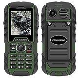 Rugged Cell Phone,Huadoo H1 IP68 Outdoor Waterproof Unlocked Rugged Mobile Phone ,Quadband Camera Flashlight Bluetooth (Green)