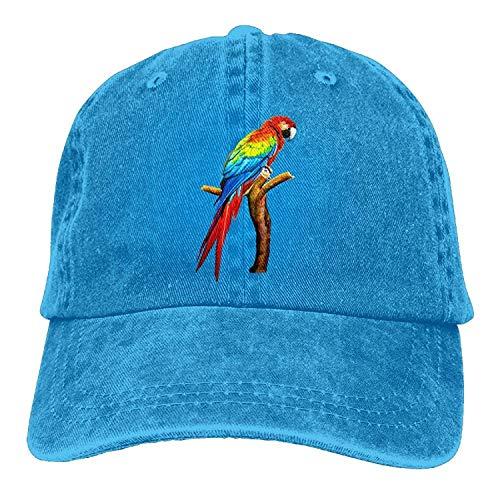 New Era Shop Gorgeously Parrot Denim Baseball Caps Hat Adjustable Cotton Sport Strap Cap for Men Women -
