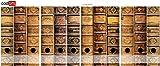 Set 12 Stück Ordner-Etiketten selbstklebend Ordnerrücken Sticker alte Bücher