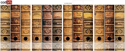 codiarts. Set 12 Stück Ordner-Etiketten selbstklebend Ordnerrücken Sticker alte Bücher