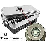 Tischräucherofen Räucherofen mit Thermometer