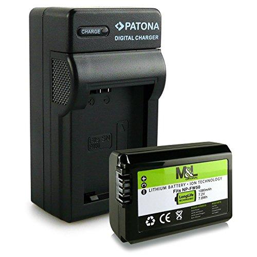 3in1 Ladegerät + Akku wie NP-FW50 für Sony NEX-3 | NEX-3A | NEX-3D | NEX-3K | NEX-5 | NEX-5A | NEX-5D | NEX-5H | NEX-5K | NEX-6 | NEX-7 | Sony Alpha: 33 (SLT-A33) | 37 (SLT-A37) | 55 (SLT-A55)